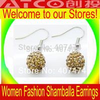 Shambala Balls Beads Eearrings Shambhala Rhinestone Crystal Fashion Jewelry Shamballa Earrings