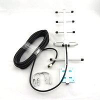 824-960MHz 5 units 9dBi Yagi Antenna with 10m Cable for GSM CDMA Repeater