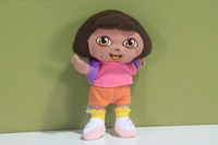 Wholesale  10pcs High Quality Soft Plush Cute Dora 7 inch the Explorer Dora With Backpack Plush Dolls Toy 7inch