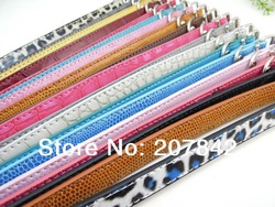 Free Shipping Wholesale 12 Colors PU Leather Dog Collar( Mixed Colors And Send Randomly )(China (Mainland))