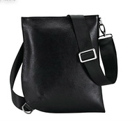 Free shipping 2013   new style   100% genuine leather  and genunie leather  fashion  messenger   male bag bussiness bag