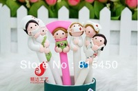 Free shipping 50pcs/lot nurse style soft pottery clay ballpoint pen ball pen for school and office supplies