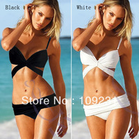 Women Hot Strap Fashion Beach Padded Bikini Split Swimsuit Swimwear I0356
