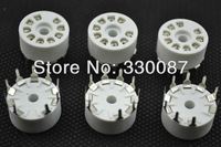 Free Shipping 10PCS new 9 pin tube sockets Plastics, base suitable for 12ax7 12au7/12AT7