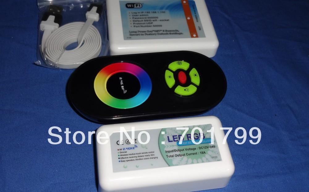 Führte wifi adaptor+ rgb touch-controller Empfänger( schwarze fernbedienung)