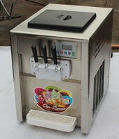 (By Oceanship)18L 3 flavour Stainless steel TABLE ICE CREAM MAKING MACHINE, Soft ice cream making machine