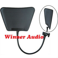 Free shipping,Metal type flexible Studio Microphone Wind Screen Pop Filter Mask Shied Gooseneck