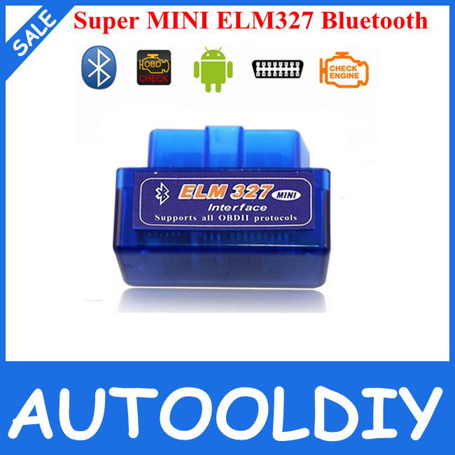 2014 Lowest Price Super Mini ELM327 Bluetooth V2.1 OBD2 auto code reader ELM327 Works on Andriod ELM 327 FREE SHIPPING(China (Mainland))