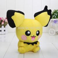 5'' Free Shipping Pokemon Plush Toy Pikachu  plush pichu Cute Soft Stuffed Animal Doll Kid Gift