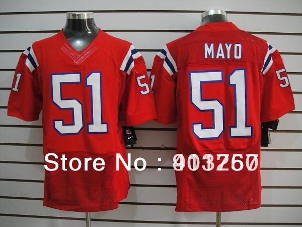 2012 New Elite- New England Pat.#51 Jerod Mayo red jerseys,American Football Jerseys,mix order,free shipping,sport jerseys(China (Mainland))