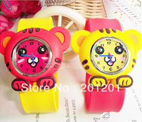 New wholesale promotional watch cartoon little tiger ring pops kids gift toy watch 7695 free shipping