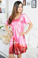 2013 New arrival sexy charming silk ladies nightgown, sleepwear