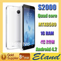 Good recommend Quad Core MTK6589 Star S2000 Dual Camera 8MP  1G RAM+4G ROM  5.0''Capacitive Screen Free shipping