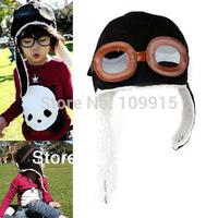 Free Shipping Fashion Cute Baby Toddler Boy Girl Kids Pilot Aviator Cap Warm Hats Earflap Beanie  ZY023(B)