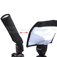 Foldable Reflector/Snoot Reflective Flash Diffuser Softbox for Nikon Metz Canon Sony Flashlight Speedlight