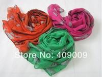 free shippig +fashion polyester zebra scarf/novel head muslim animal winter head scarves shawls