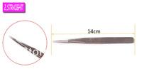 5pcs x VETUS Silvery Anti-static  Hard ST-12 Straight Eyelash Extension Tweezers  Free shipping