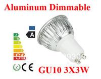 2pcs/lot Aluminum 9W  GU10/E27/MR16/GU5.3 Dimmable LED Light Bulb High Power  LED Lamp Spotlight LED Lighting