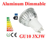 2pcs/lot Aluminum 9W  GU10/E27/MR16/GU5.3 Dimmable LED Light Bulb High Power  LED Lamp Spotlight LED Lighting