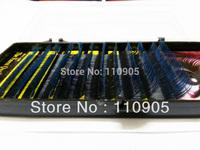 Free shipping Korea Super Soft  Eyelash Extension Two Tone Blue & Mix Length