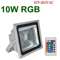 Hot Sale! Waterproof Led Flood Light 10W RGB Remote Control Floodlight Led Outdoor Lighting 3 Year Warranty+24key Remote Control