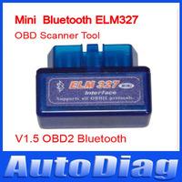 2014 Latest Version V1.5 Super mini elm 327 Bluetooth OBDii / OBD2 Wireless Mini elm327 bluetooth obd2 v1.5