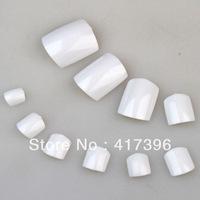 500pcs Full Cover White color False toe Nails 10 size/a packet toenail New Nail Art Tips False Nails diy for Toe NA047A