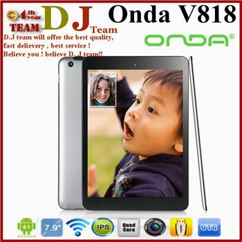 "Onda V818 Quad core Mini Pad Tablet PC 7.9"" IPS Android 4.1 Dual Camera 5.0MP 1GB RAM 16GB HDMI 4096P"
