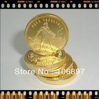 40 pieces / lot Newest 1923 Russia 10 Roubles Chervonetz.999 Gold Replica Coin,gold plated Souvenir coins Free shipping