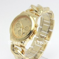 [Free Shipping] [LLA] 2013 New Arrival! Chain-Link Watches Wristwatch For Man and Women, Unisex Watch, 4 Colors Available