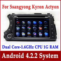 Android Auto Radio Car DVD Player for Ssangyong Kyron, Actyon, Tradie with GPS Navigation Bluetooth TV SWC USB Stereo 3G WIFI