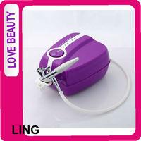 Portable Makeup Airbrush Set Mini Air Compressor with Spray Gun kit 2013 Travel Toiletry
