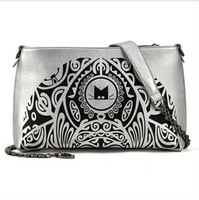 2013 New Fashion women's  vintage printing shoulder bag chain bag messenger mini cross bag free shipping