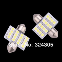 wholesale 10X 31mm 16 LED SMD Festoon Dome Light lamp Car reading Bulbs pathway light door led bulb reading White blue