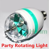 Free ship 3W RGB LED Mini Party Light Dance Party Lamp Holiday Lights Auto Rotating New E27 colorfull Bulb Christmas Lighting