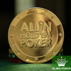 Metal 100% Pure Brass for Pressing Poker Cards Can be customized Poker Chips Souvenir Coins(China (Mainland))