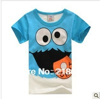 free shipping!!! Hippo1 biscuits short-sleeve T-shirt 2014 summer children's clothing child baby child male female child