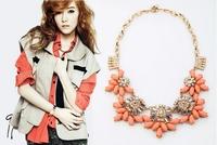 2013 new design fashion orange necklace statement choker necklace