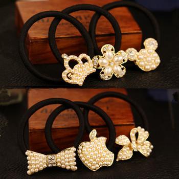 New Hair Accessories for Kids/Girls Pearl Hairband Girls Hair jewelry Elastic Headband