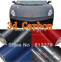 60cm x127cm 3D Carbon Auto Fibre sticker Vinyl Sheet For Cruze/Equalizer/Chevrolet/Skoda Octavia/Motorcycle so on