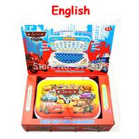Hot Selling 1 pcs Car Type Computer  Kids laptop  English language Learning machine Funny Machine Educational Toys for children