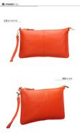 Leather trim 2013 popular fashion envelope bag, hand bag, with long straps. Short belt. Free shipping