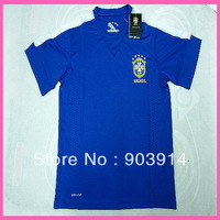 2014 Factory Price Player Version  Brazil Away Soccer Jersey,Original Quality Brazil 13/14 Shirt,Thai Quality