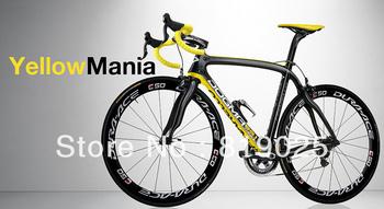 2013 Completely Asymmetrical Pinarello Dogma 65.1 Think 2 Nero Giallo 770 Yellow Carbon Bike Frame+fork+seatpost+clamp+headset