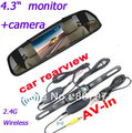 "4.3"" car monitor Color Digital TFT LCD Screen +2.4G Wireless Car Rear View Reversing 120 Camera(China (Mainland))"