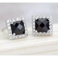 Free shipping 925 sterling silver stud earring accessories luxury zircon earrings Women anti-allergic