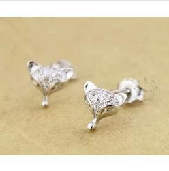 free shipping 925 sterling silver stud earring earrings anti-allergic earring women's vintage zircon crystal small accessories