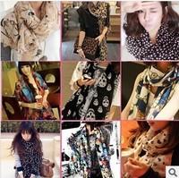 Chiffon silk scarf 2014 scarf female summer all-match scarf long design air conditioning cape