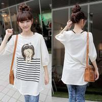 New brand casual summer women plus size cartoon half sleeve white t shirt