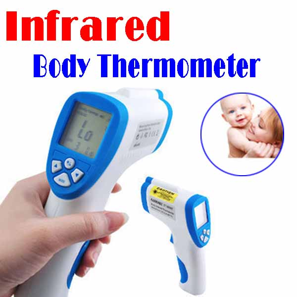 "BY DHL OR EMS 50 pieces 1.7"" LCD Digital Infrared Forehead Non-Touching Thermometer with Laser Sight(China (Mainland))"